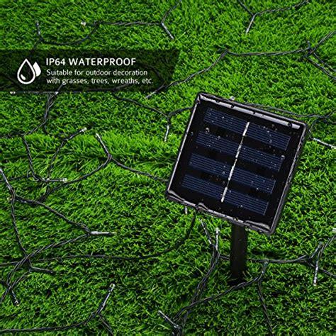 litom outdoor solar string lights 200 led solar power