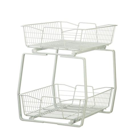 closetmaid 14 in w 2 tier ventilated wire sliding cabinet