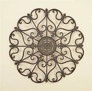 Metal wall decor home wall decor ideas for Wrought iron wall decorations