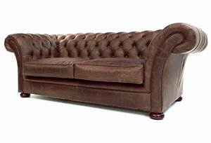 the scholar 2 seat vintage leather chesterfield sofa bed With hard sofa bed