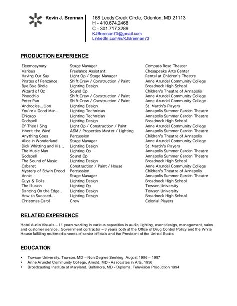 Theatre Manager Resume by Theatre Resume