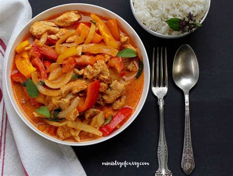 thai red curry chicken instant pot ministry  curry