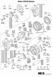 Delco Remy Type Cs130 Alternator Exploded View