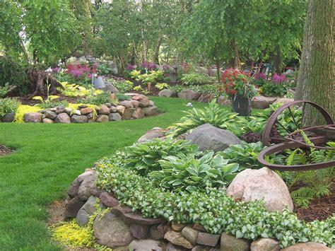 hosta rock garden garden ideas