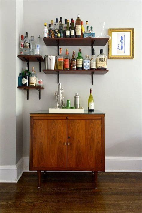 Home Bar Shelves by Heidi S Stylish Reinvention Home Bar Shelves For