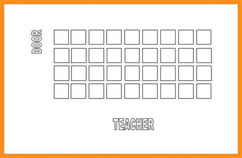 seating chart template airline seating chart sle