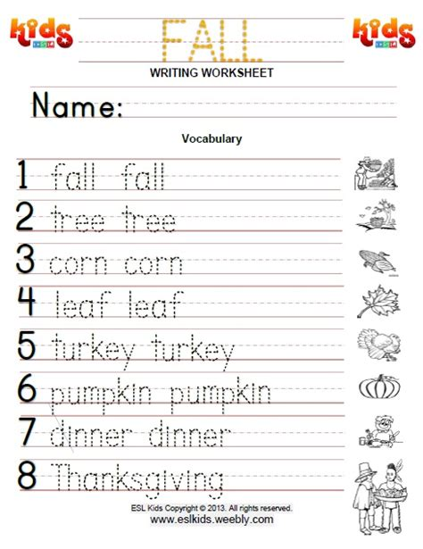 Fall  Activities, Games, And Worksheets For Kids