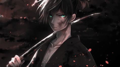 Download 1920x1080 Wallpaper Warrior Yato Noragami Dark