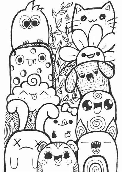 Doodles Zendoodle Doodle Coloring Colouring Coloriage Dibujos