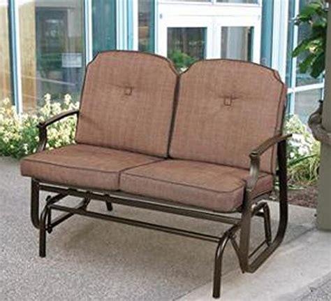 mainstays wentworth outdoor glider bench seats 2