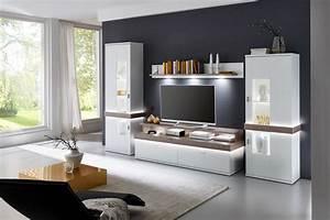 Möbel Farbe Weiß : ideal m bel wohnwand albi wei nelson nordic m bel letz ~ Sanjose-hotels-ca.com Haus und Dekorationen