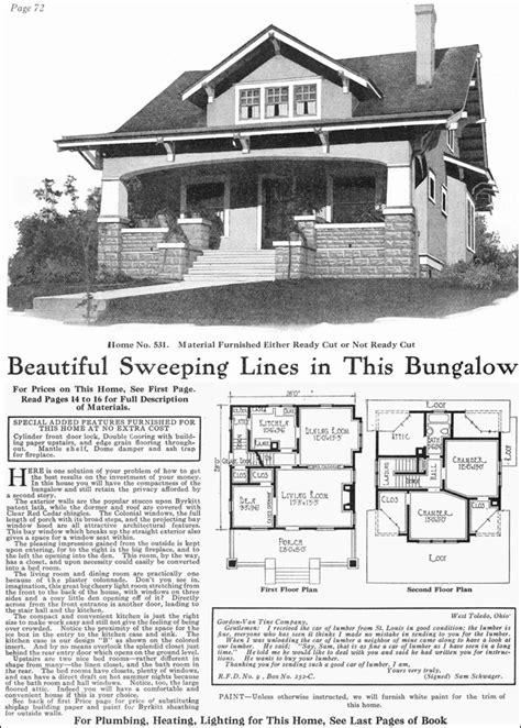 gordon van tine model   classic craftsman style bungalow