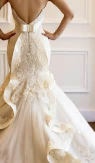 wedding dresses ivory gorgeous ivory lace wedding dress with unique ruffle back 1981165 weddbook