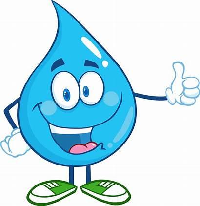 Water Drop Happy Character Clipart Giving Cartoon