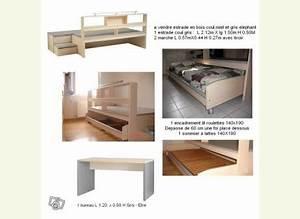 Construire Un Bureau : estrade pour 39 39 cacher 39 39 lit de 2 personnes ~ Melissatoandfro.com Idées de Décoration