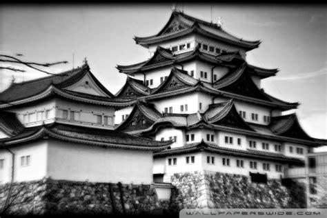 nagoya castle  black  white  hd desktop wallpaper