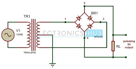 Circuit Diagram Of Center Tap Full Wave Rectifier