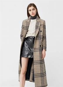 manteau carreaux laine femme mango france With manteau a carreau femme