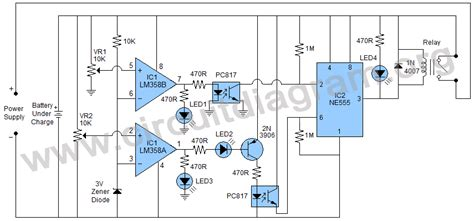 Smart Universal Automatic Battery Charger Circuit Diagram