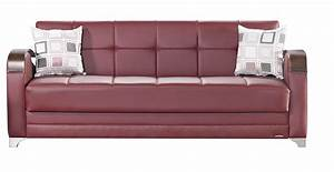 etro prestige burgundy leatherette sofa bed by mobista With burgundy sofa bed