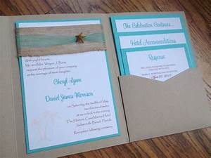 beachpocketweddinginvitationtropicalby With pocket wedding invitations cricut