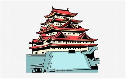 Temple Clip Japanese Clipart Vector Japan Royalty