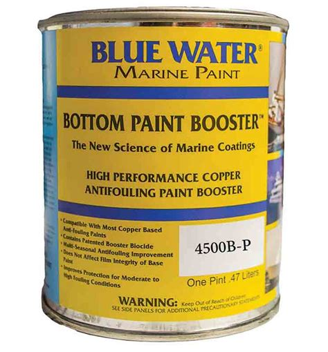 Bluewater Boat Paint by Blue Water Marine Bottom Paint Booster 1 Pint Increases