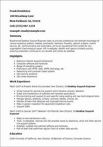 Professional desktop support engineer templates to for Sample resume for experienced desktop support engineer