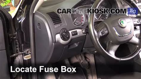 interior fuse box location   skoda octavia