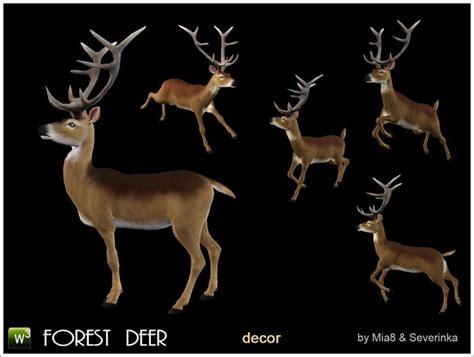 forest deer deco  severinka sims  downloads cc