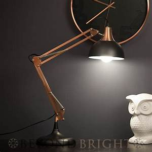 sly designer table desk lamp light black copper modern With amalfi sly floor lamp copper