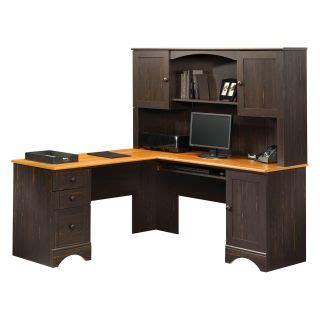 Sauder Harbor View Desk With Hutch by Sauder Willow Falls Corner Computer Desk Hutch Tray Cpu