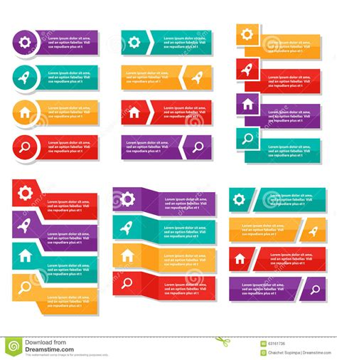 Colorful Infographic Presentation Template Brochure Flyer Colorful Label Infographic Elements Presentation Template