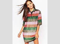 Asos Natural Fibre Stripe Skater Dress Lyst