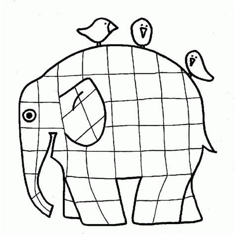 colouring sheets elmer elmer elephant coloring page