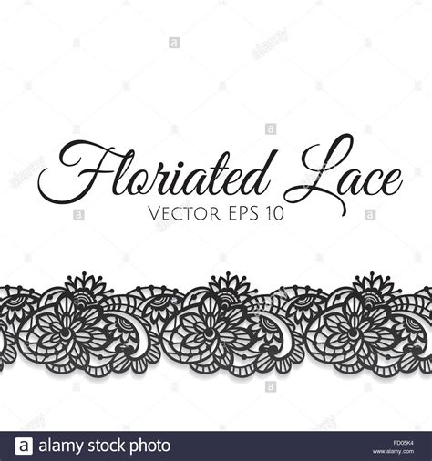 template  greeting card decorated  floral lace stock