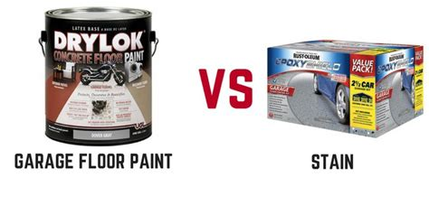 Garage Floor Paint Vs Stain by Garage Floor Paint Vs Stain Which One Is Best Ask The