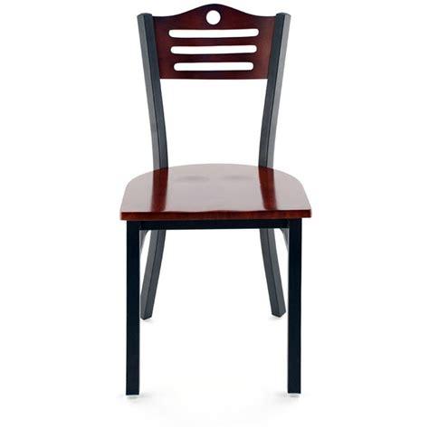 interchangeable back metal restaurant chair with slats