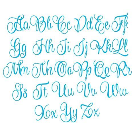 blanche script monogram cuttable font