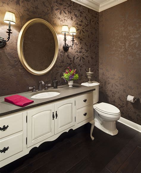 wallpapered bathrooms ideas twenty beautiful wallpaper ideas for your powder room