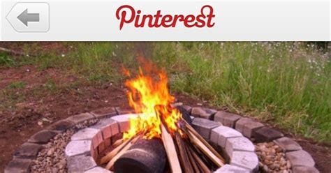 happy life updated fire pit pinterest project complete