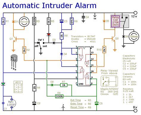 how to build a simpler cmos single zone alarm circuit diagram
