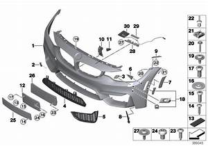 Bmw M4 Grill  Air Intake  Open  Left  Front  Trim  Gts