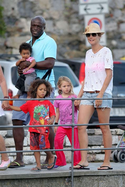 But when it comes to her four children, she's much more guarded, rarely showing their faces and shooting them primarily from behind. Pictures of Heidi Klum on Vacation in Italy with Seal ...