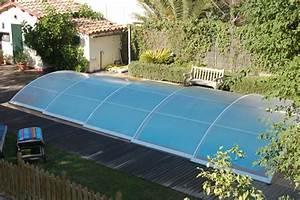 Piscine Coque Pas Cher : poolabri abri piscine bas telescopique ~ Mglfilm.com Idées de Décoration