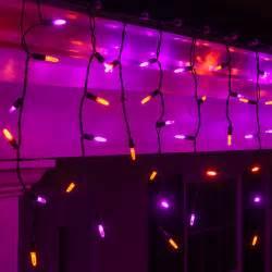 led christmas lights 70 m5 purple orange halloween led icicle lights black wire