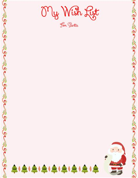 christmas list doc 20 free letter to santa templates for to write wishes