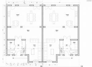 plans et permis de construire exemple de plan de rdc With plan maison avec cotation