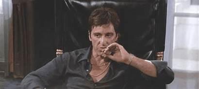 Pacino Scarface Movie Dans Smoking Mafia Cigar