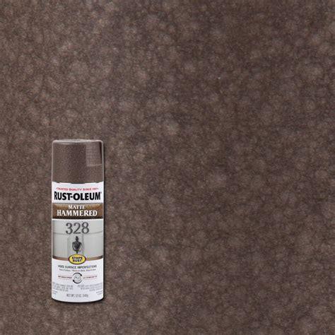 rust oleum stops rust 12 oz matte brown protective enamel